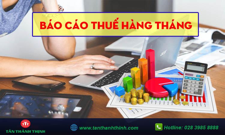 Hướng dẫn cách làm báo cáo thuế hàng tháng
