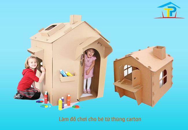 Cách làm đồ chơi cho bé từ thùng carton