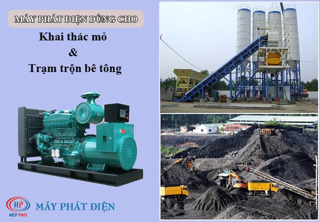 Máy phát điện dùng trong khai thác mỏ và trạm trộn bê tông