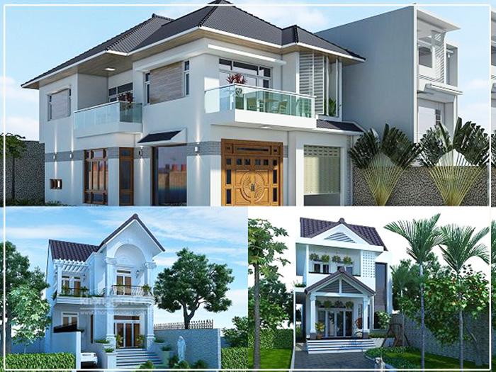 Những mẫu nhà mái thái 2 tầng đẹp
