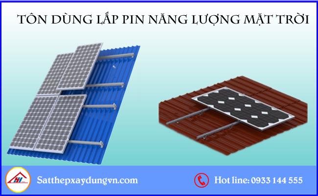 Tôn dùng lắp pin năng lượng mặt trời